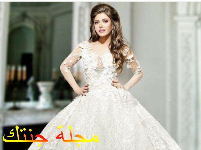 ريهام بفستان زفافها