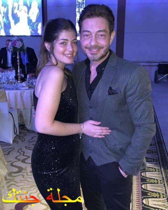 ليلي مع والدها احمد زاهر