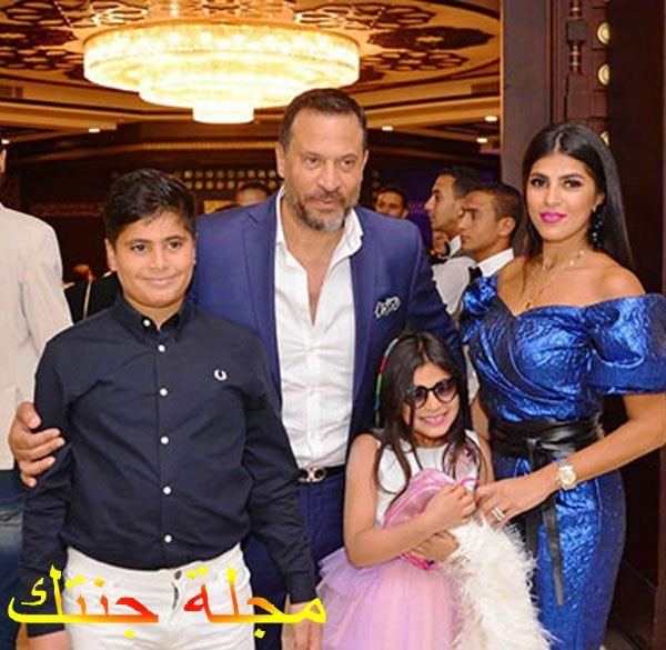 ماجد و زجته رانيا ابو النصر مع اولادهم