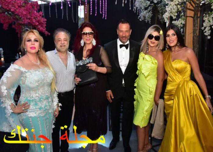 ماجد و طليقته منى اش اش في حفل زفاف ابنه الاكبر