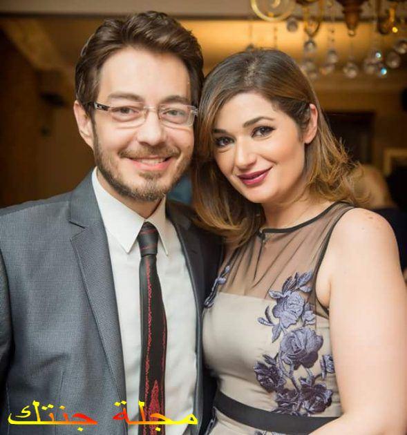 احمد زاهر و زوجته هدى