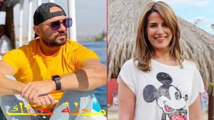 احمد صلاح حسنى و الفنانة ايناس كامل