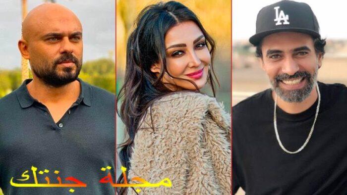 احمد صلاح حسنى و محمد علاء و سامية الطرابلسي ابطال العمل