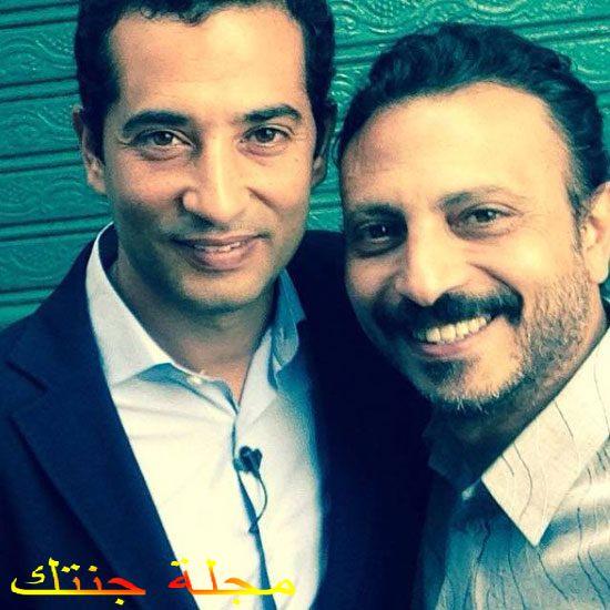 محمود عزت و الفنان عمرو سعد