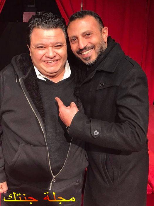 محمود عزت و المخرج المسرحى خالد جلال