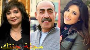الفنانة عايدة رياض و الفنان محمد عبد العظيم مع الفنانة ياسمين عبد العزيز بالمسلسل