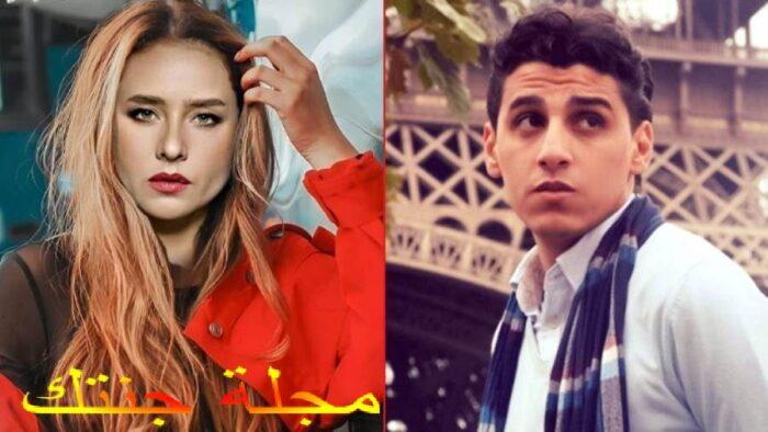 الفنانة نيللي كريم و المؤلف عمرو الدالي
