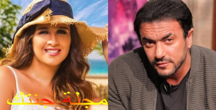 الفنانة ياسمين عبد العزيز و الفنان احمد العوضي