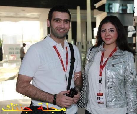 الفنان احمد ايراج و زوجته المذيعة و الفنانة زينة كرم