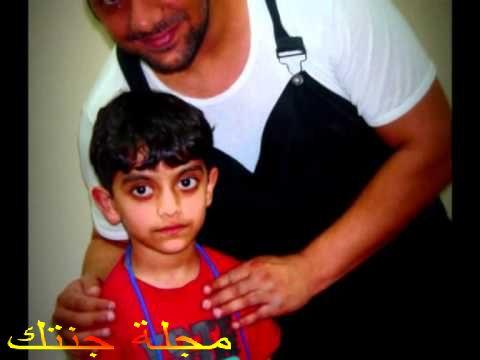 الفنان اوس الشطى و هو طفل صغير