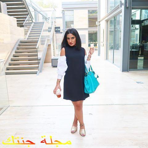 سارة القبندى في احد مراكز التسوق