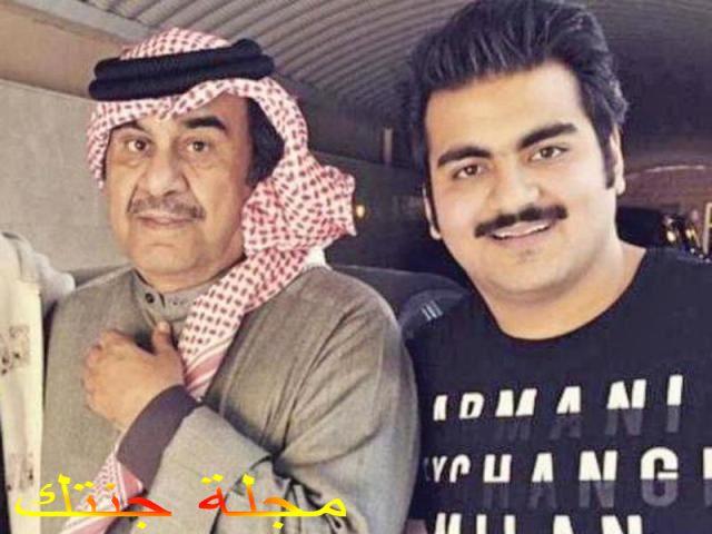 الفنان عبد الله عبد الرضا مع جده الفنان الراحل عبد الحسين عبد الرضا