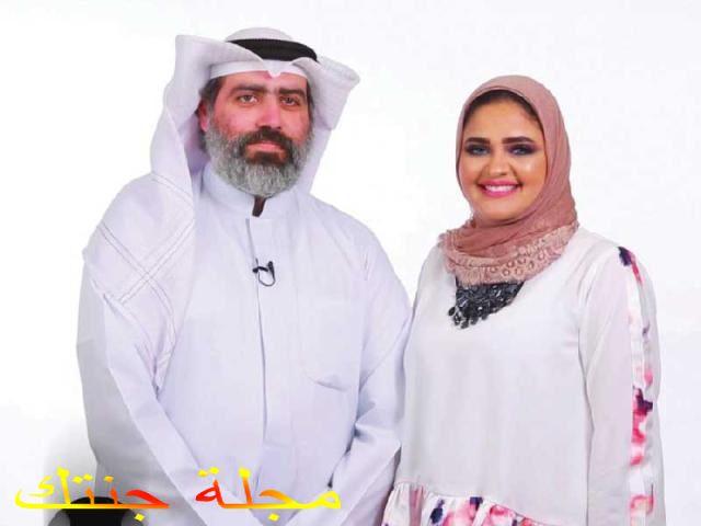 عبد الله التركمانى و زوجته الاعلامية حبيبة العبد الله
