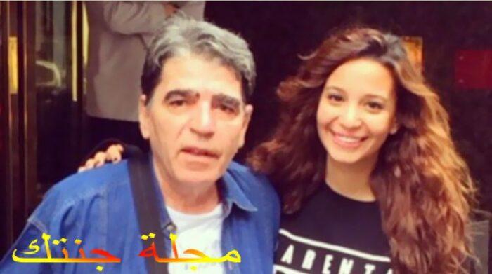 مريم الجندى مع والدها الراحل محمود الجندى